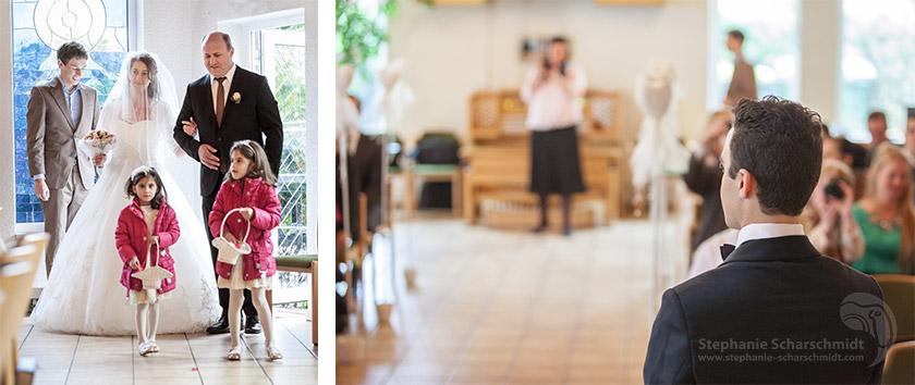 image-60532-b + image-60493: Braut wird von Bräutigam erwartet ( Zionskirche Krefeld / DE ) 19.4.2013