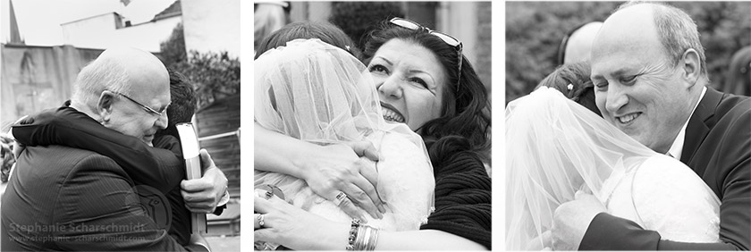image-60882 + 60831 + 60833: Herzlichen Glückwunsch zu Hochzeit / Beglückwünschungen nach der Trauung ( Zionskirche Krefeld / DE ) 19.4.2013