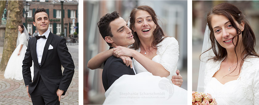 image-61037-b + 61106-b + 61050: Brautpaar Fotos / frisch vermähltes Ehepaar ( Kempen / DE ) 19.4.2013