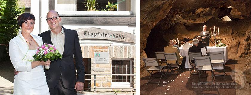 Hochzeitsfotos 65451 + 65510 : Ungewöhnlich Hochzeit/Trauung in der Tropfsteinhöhle Wiehl (Standesamt Tropfsteinhöhle Wiehl / NRW / Deutschland ) 16. August 2013