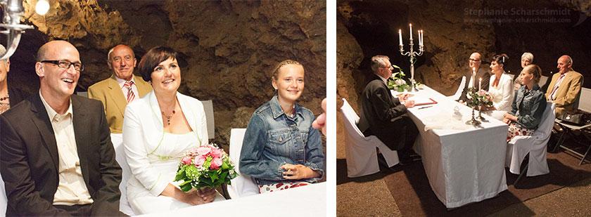 Hochzeitsfotos 65511 + 65517 : Außergewöhnliche Hochzeitslocations – Trausaal tief in der Erde (Standesamt Tropfsteinhöhle Wiehl / NRW / Deutschland ) 16. August 2013