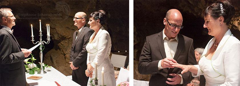 Hochzeitsfotos 65541 + 65556 : standesamtliche Trauung und romantische Ringübergabe (Standesamt Tropfsteinhöhle Wiehl / NRW / Deutschland ) 16. August 2013