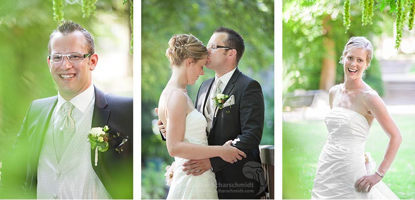 image-64434-b + 64360 + 64445-b: Portraits des Brautpaares – Nina & Marcus im Ingenhovenpark ( Nettetal / DE ) 2 August 2013