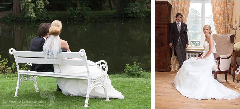 Hochzeitsfotos – heiraten im Schloss am Niederrhein – Schloss Leyenburg (in Rheurdt, Kreis Kleve)