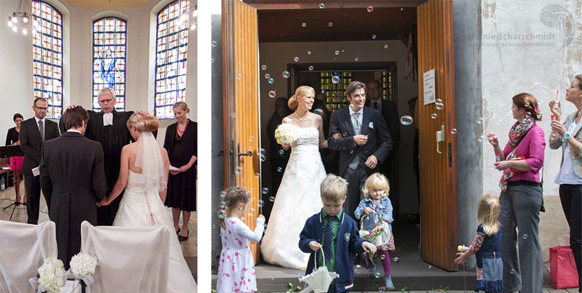 Hochzeitsfotos – Auszug Aus der Kirche - Evangelische Dorfkirche Duisburg Friemersheim